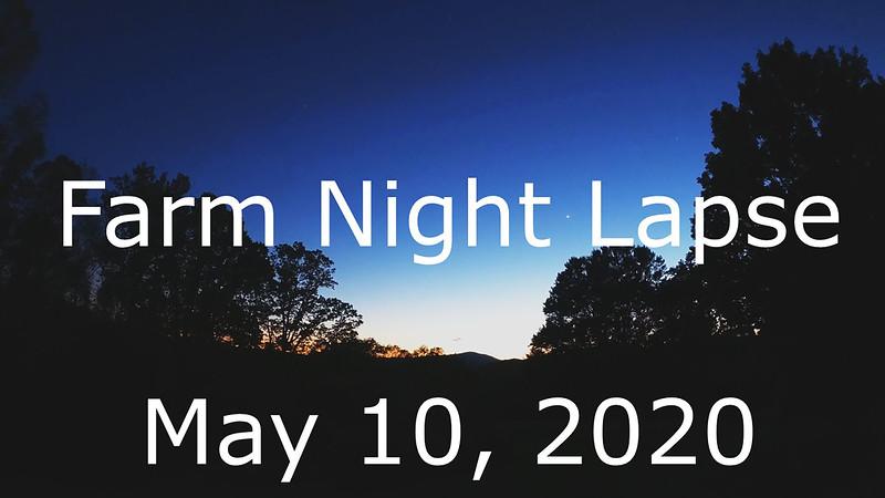 Farm Night Lapse