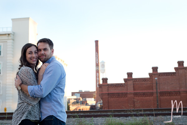 Kyle + Bailey Wilkinson in Downtown Durham, NC. Photo Copyright Jessica Marie Visuals