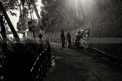 C16:Locals pray at a roadside temple on Mall road,Darjeeling,West Bengal
