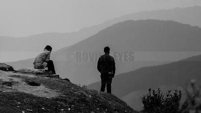 C11:Layers of hills invite contemplation in viewers in Simana,a small village near Mirik on the Nepal border.