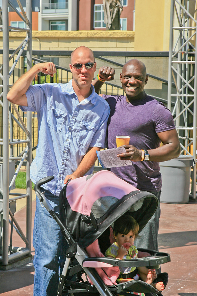 A couple of macho men at the Grove on Sunday July 29, 2012.