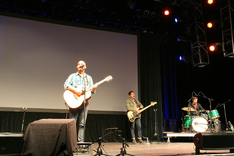 Tim Timmons leading worship at the Grove on Sunday July 29, 2012.