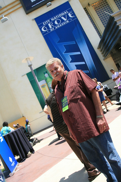 Ken Morris, one of the faithful greeters for the 11am service.