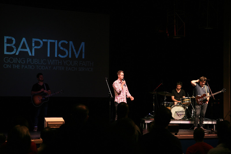 Doug Jones, Pastor of Saddleback Student Ministries addressing the audience on Sunday September 2, 2012