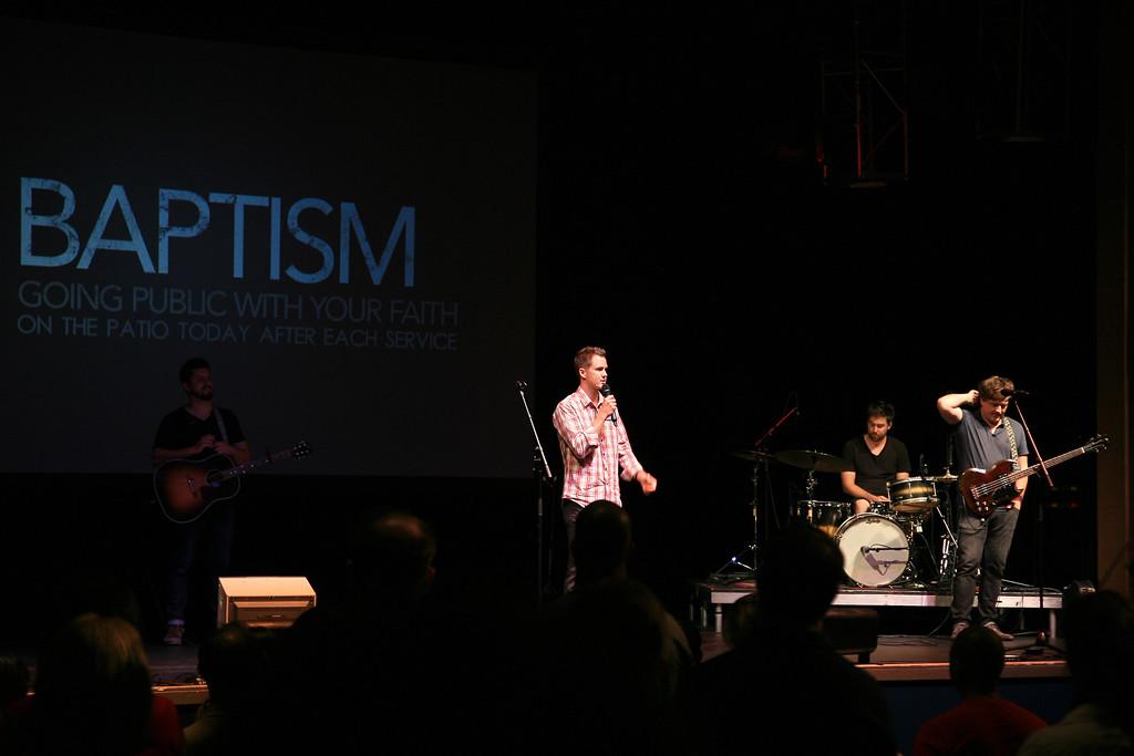 Doug Jones, Pastor of Saddleback Student Ministries addressing the audience on Sunday September 2, 2012