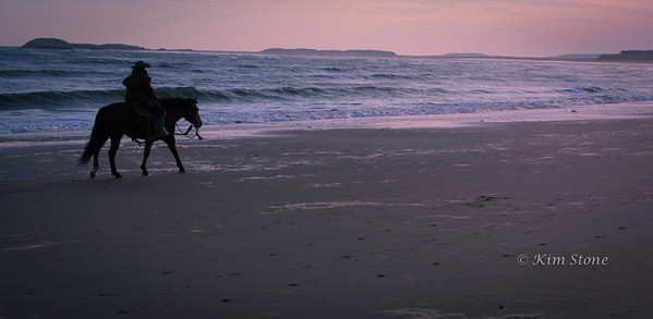 Riding on Popham Beach