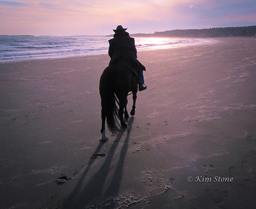 Riding on Popham Beach