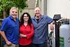 KFI Radio Host,  Bill Handel with wife Marjorie and Dan Hillard