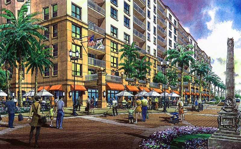 Palmetto Place rendering Retail Facility 2