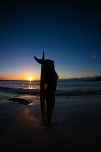 Sunset girl
