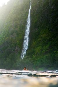 Surfing under Waterfalls