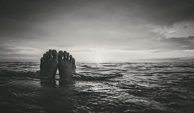 Feet up, sun down