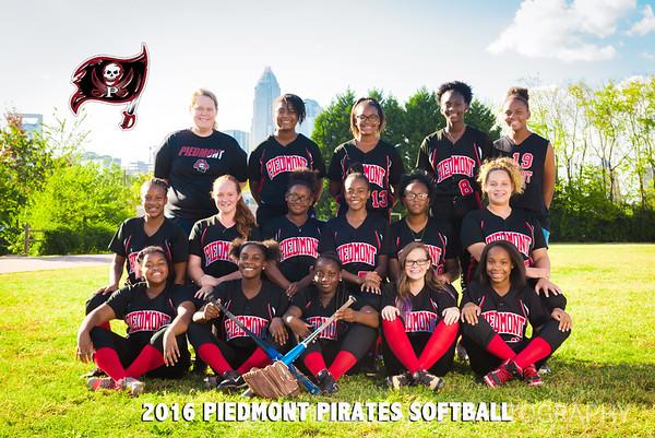 2016-Piedmont-Softball-Team