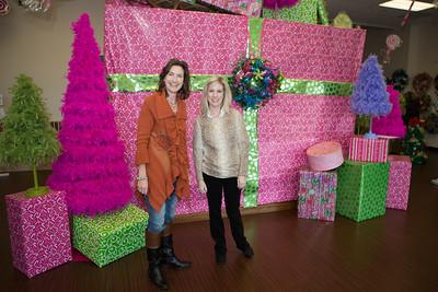 Gift Market Chairman Deborah Allen (left) with volunteer Wendy Jones.
