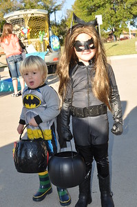 Aledo United Methodist Church Trunk or Treat, October 28, 2012 - Cole and Riley M