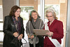Ms. Senior Parker County Billie June Cox greets Aledo Mayor Kit Marshall and Lisa Humphreys of Weatherford.