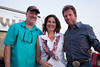 Cinematographer Brown Cooper, Aledo Mayor Kit Marshall and Director Bill McAdams, Jr. on the set of Aledo Film Group's latest production. The movie is planned for an October 2014 release.