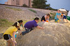 From left: Brooklynn, Victoria, Salvadore, Ellawen, Isaac, and Koby play on the sand hills at the Fun Fest.
