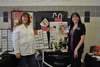 Greater Metro West Association of Realtors Home and Living Fair October 27, 2012 - Tina Sbriglia and Phyllis Peel, Pampered Chef