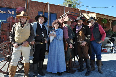 Weatherford Hometown Heritage Stampede Oct. 27, 2012 - Legends of Texas, from left, Mark Crosby, David Hansford, Ava Hansford, Daryl Windland, Brad Gandy and Doug McKellar.