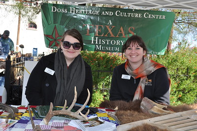 Weatherford Hometown Heritage Stampede Oct. 27, 2012 - Amanda Rush and Miranda Murphy from the Doss Heritage and Culture Center