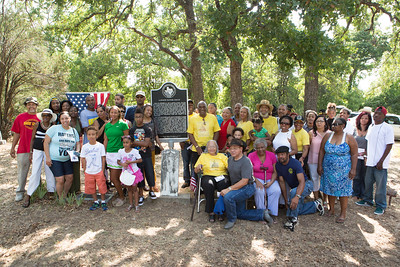 Family of Lawson Gratz pose for a group portrait after the ceremony.