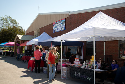 Vendor booths lined the Willow Park Community Center on  Saturday.