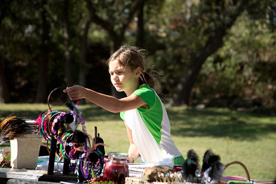 Kendyl Farr, 8, shops for headbands at a booth during Willow Park Fest.