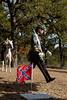 Third Brigade Commander Ben Hatch wears a dress civil war style military uniform.