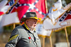 Jerry Walden, Sons of Confederate Veterans Camp Commander, addressed observers during the memorial.