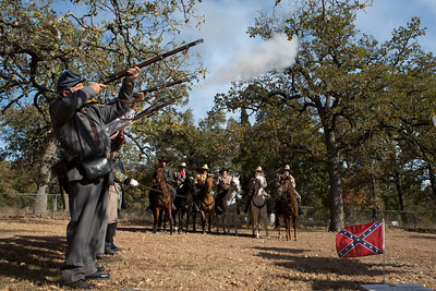 Muskets were fired during the artillery salute to Robertson.