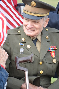Richard Thurman Stanley, a veteran of World War II. He fought under Gen. George Patton and was at the Battle of the Bulge, Normandy, Rhine River and Utah Beach. He was once kissed by Shirley Temple.