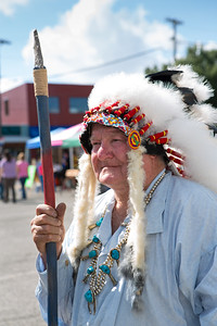 James Bishop of Hawk Living History Reenactment portrays a Cheyenne war chief.