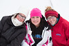 Claire and Hannah Wittbold enjoy the snow day with Madi Hartman (right).