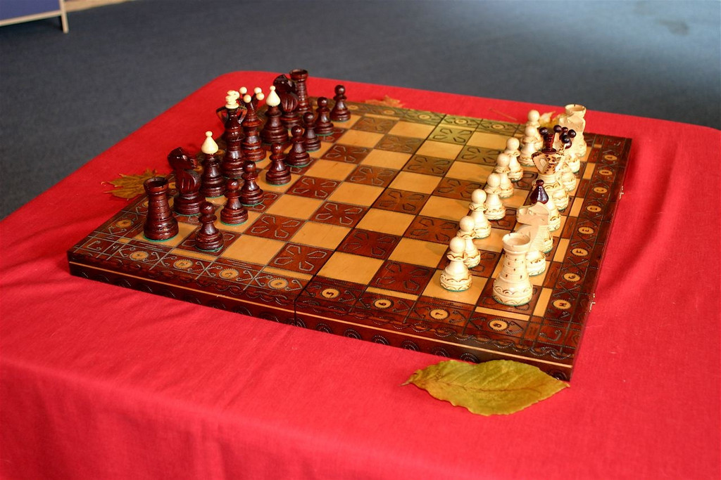 Cool German Chess Set (Jody won it)