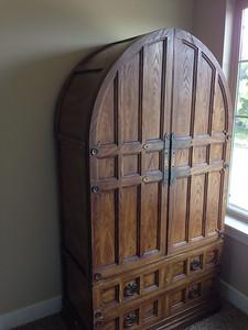 Damaged antique armoir