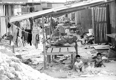 Living in the slums of Bangkok Summer 1989  off Soi 77 in the slums.