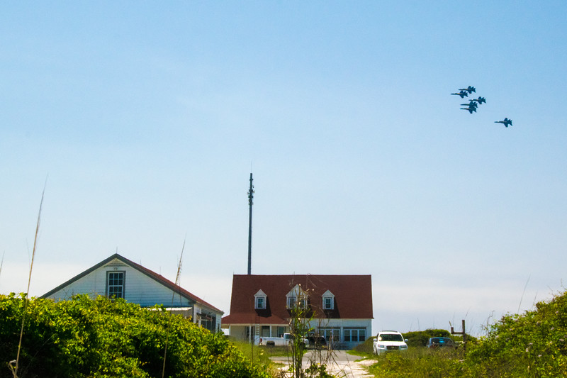 The Blue Angels precision flying team is based in Pensacola and it is not uncommon to see them practicing in the area. I captured this image from the Fort Pickens area.