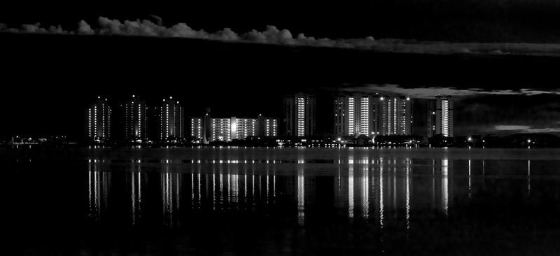 Navarre Beachnight reflection