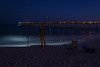 Night fishing near the Navarre Pier.