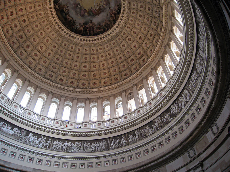 Rotunda of the U.S. Capitol in Washington D.C., USA