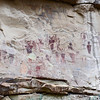 Pictographs on sandstone cliff in Sego Canyon in Utah, USA