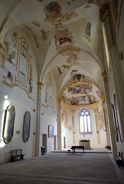 Restored church in the San Giacomo monastery on Capri, Italy