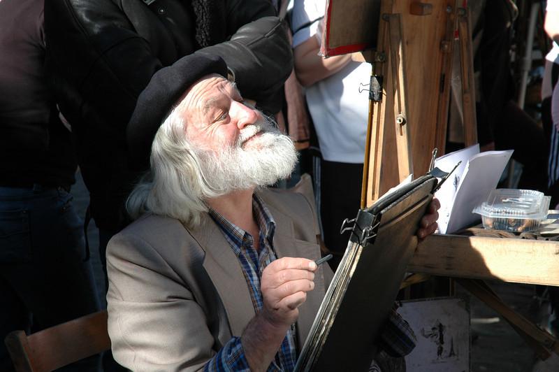 Cartoonist in Montmartre, Paris