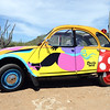 Artistic Citroen 2CV on Curaçao