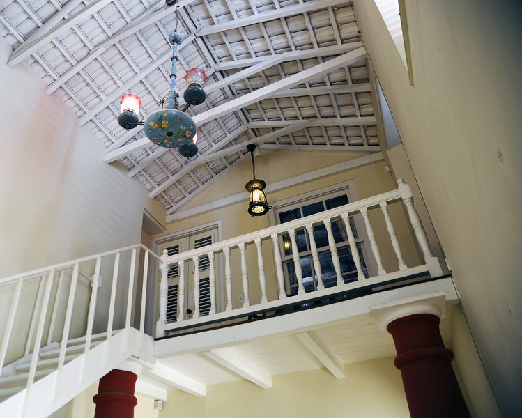 Part of the interior of the Kura Hulanda museum in Willemstad, Curaçao