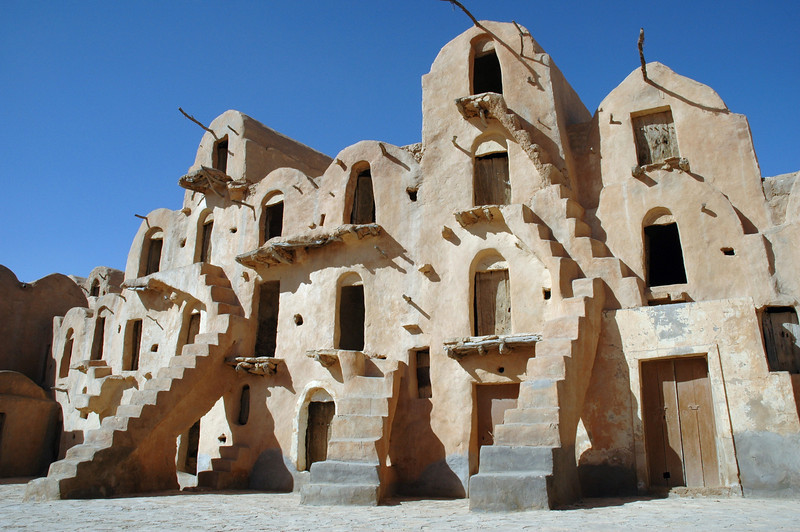 Ksar Ouled Sultane, a fortified granary in southern Tunisia