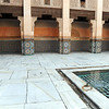 Rich Islamic art in the Ben Youssef madrassa (religious school) in Marrakesh, Morocco