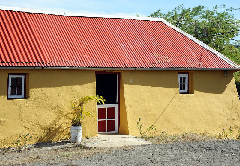 Traditional home in rural area ('kunuku') near St. Willibrordus on Curacao
