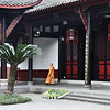 Serene temple courtyard in Chengdu, China